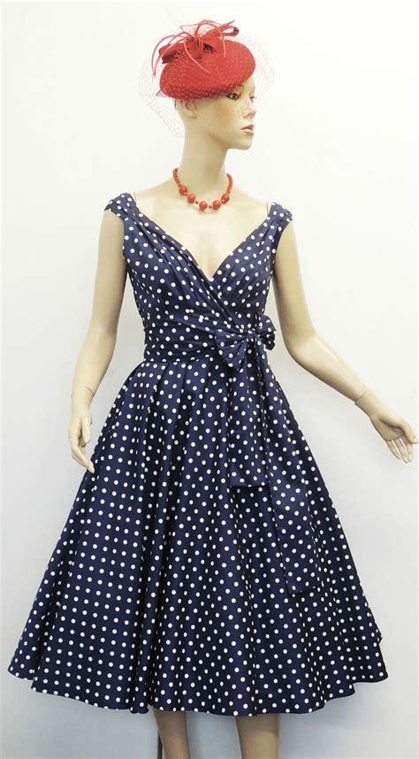 polka dot swing dress 1950s new rosa rosa vintage 1950s style polka dot summer party