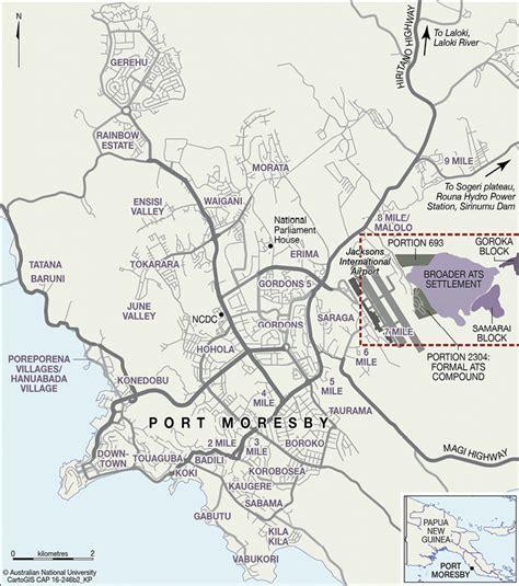 port moresby map kastom property and ideology anu