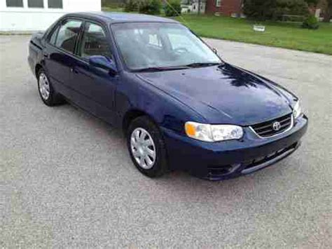 Toyota Corolla 2001 Mpg Sell Used 2001 Toyota Corolla 5 Speed 1 Owner Clean