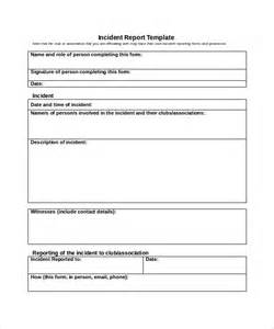 Incident Summary Report Template by Sle Incident Report Template 16 Free
