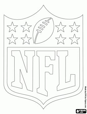 coloring pages nfl logos logo of the nfl national football league coloring page