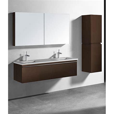 Modern Bathroom Vanities With Tops Madeli Venasca 60 Quot Bathroom Vanity For Quartzstone Top Walnut Free Shipping Modern