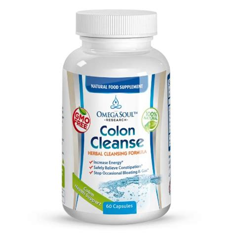 Premium 100 Colon Cleanse Detox by Omega Soul Colon Health Formula 100 Gentle