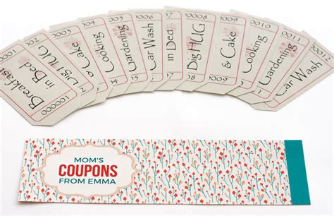 Handmade Coupons - mothers day coupon booklets to personalize and print
