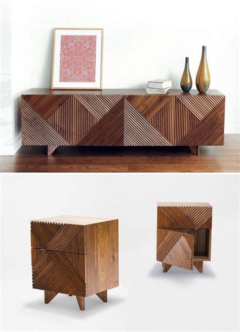 modern wood furniture geometric shapes home