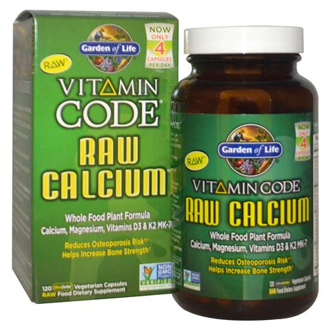 garden of vitamin code calcium 120 veggie caps
