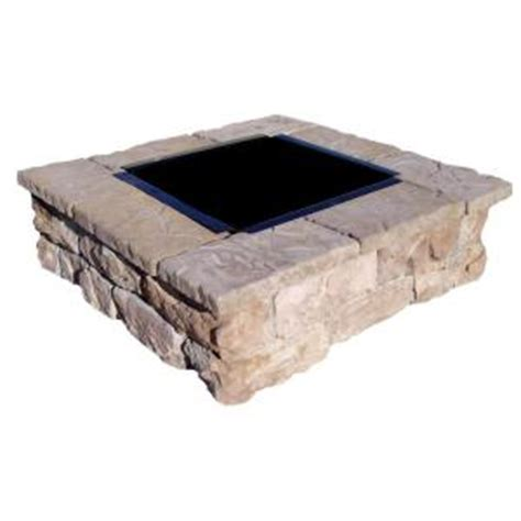 pit stones home depot fossill brown square pit kit fbsfp the home depot
