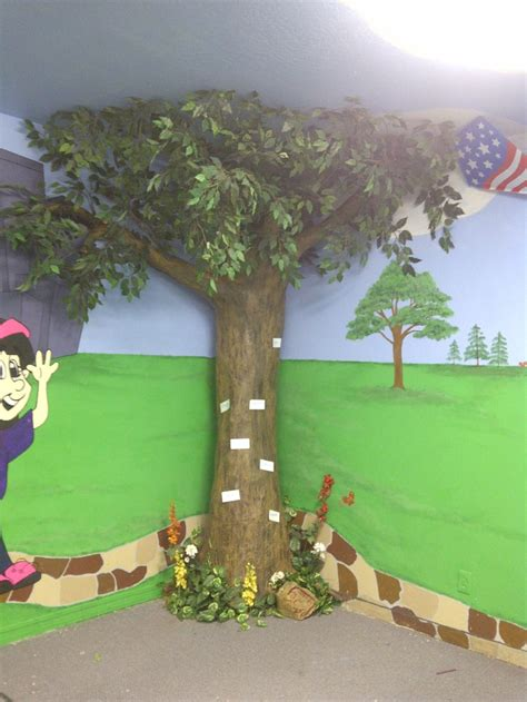 How To Make A 3d Paper Tree - paper mache tree preschool ideas furniture classroom