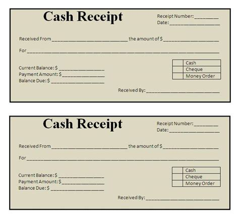 receipt free template receipt form free printable documents
