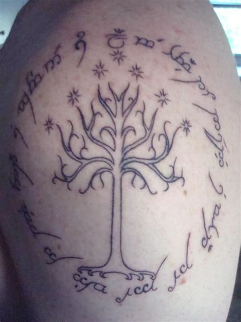 inscription tattoo designs the design of my the white tree of gondor