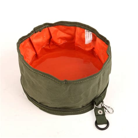 portable water bowl top quality oxford cloth folded travel bowl feeder portable pets water bowl and