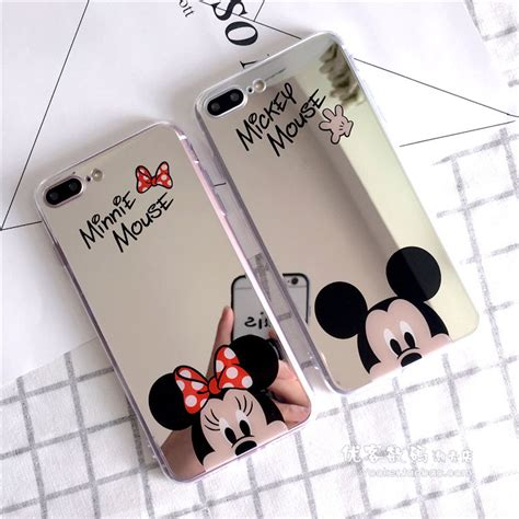 Mickey And Minnie Mouse Q0214 Iphone 7 Plus Casing Premium Hardcase for iphone 7 7 plus 6 6s sparkel mirror minnie mickey mouse soft cover ebay