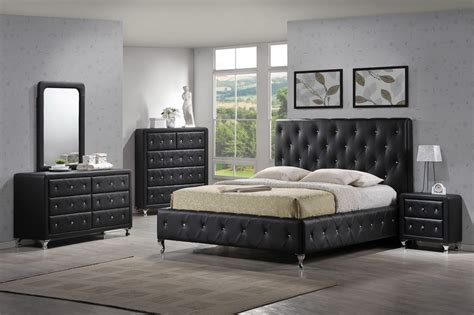 black tufted headboard with crystals modern tufted black bedroom set bedroom collections