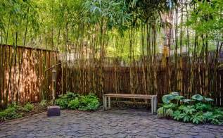 bamboo screen with cobblestone emgd pinterest