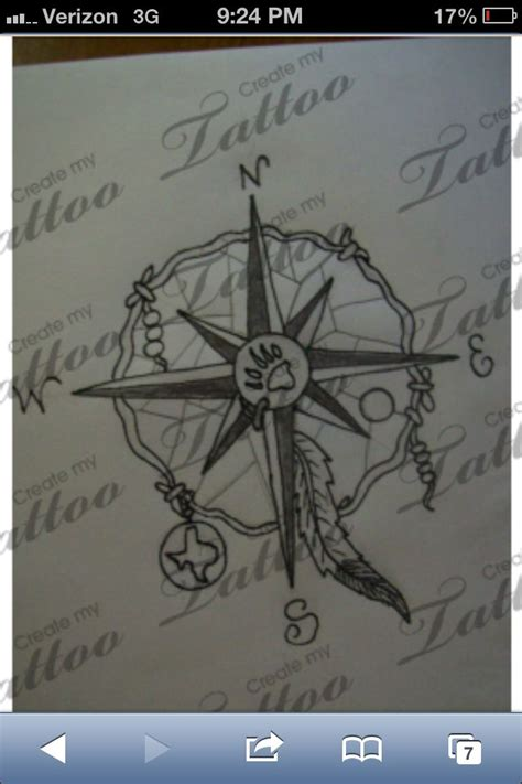 compass dreamcatcher tattoo compass tattoo that i could incorporate my dream catcher