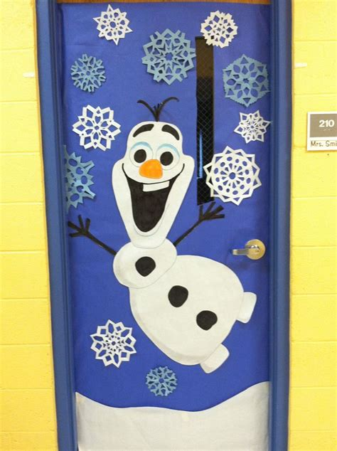 winter classroom door decorating ideas winter door decoration olaf from frozen http weown in