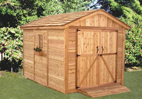 8 X 12 Sheds by 8 X 12 Spacemaker Cedar Storage Shed Sm812