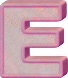 presentation alphabets birthday cake letter e