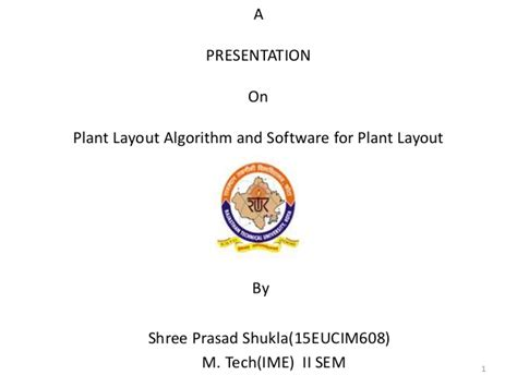 plant layout powerpoint presentation plant layout algorithm