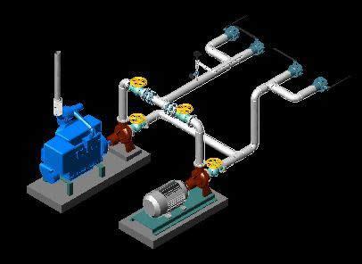 water pump  dwg model  autocad designs cad