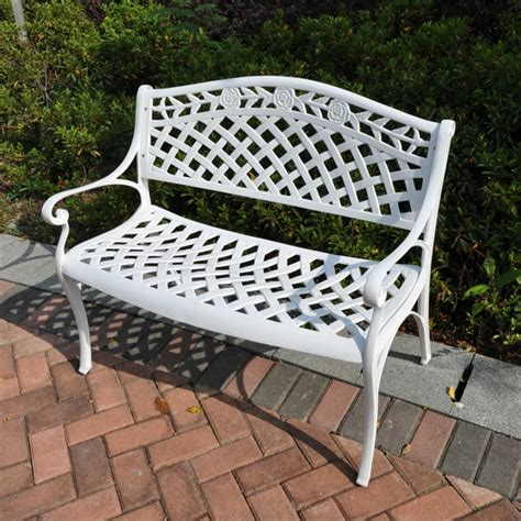 white metal bench white metal bench small white garden benches modern patio