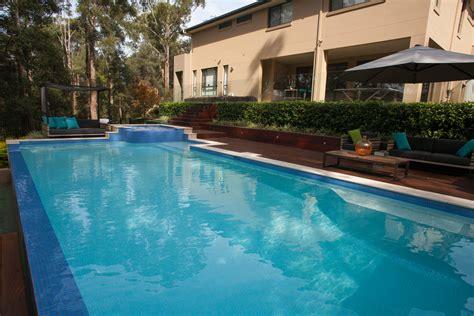 those blue hues a modern pool design completehome