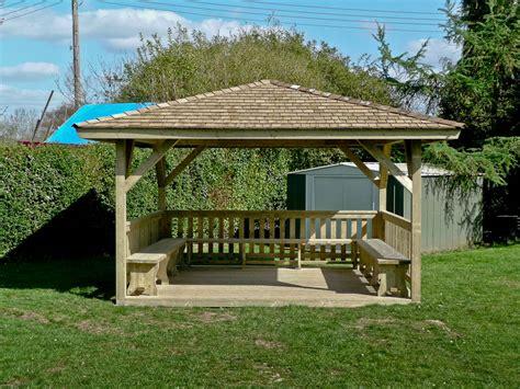 Gazebo Shelter Curved Glulam Timber Canopy