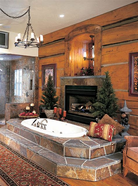Log Home Bathroom Ideas by Vent Free Fireplaces Are An Option