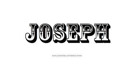 tattoo name joe joseph name tattoo designs