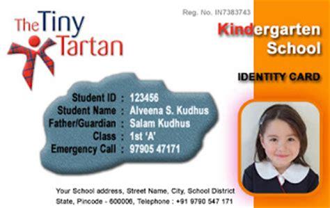 Kindergarten School Id Card Photoshop Template by Coimbatore Today Kindergarten Free Id Card Template