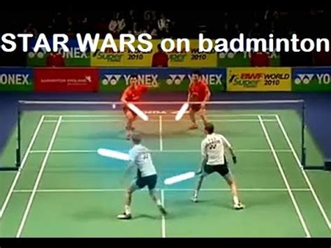 funny badminton fighting  actions  star wars youtube