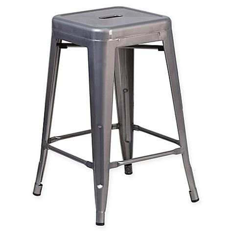 24 inch bar stools backless buy flash furniture 24 inch backless bar stool in clear