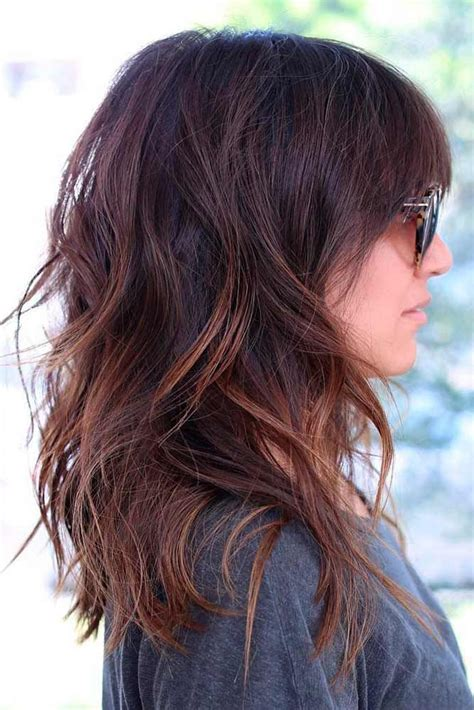 ways to fix medium length layered hair with swoop bangs 25 best ideas about trendy medium haircuts on pinterest