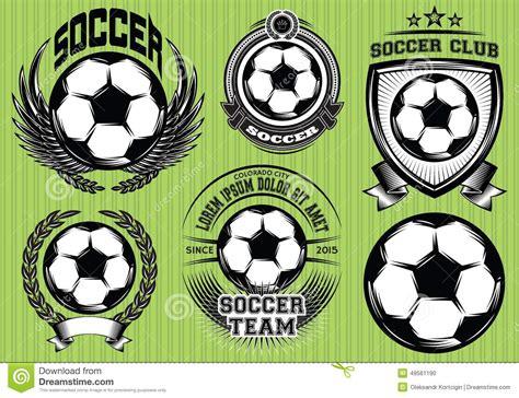 Set Of Soccer Football Badge Logo Design Templates Stock Vector Image 49561190 Soccer Design Template