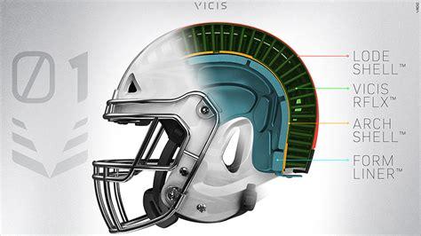 helmet design reduces concussions vicis zero1 nfl helmet aims to reduce head injuries