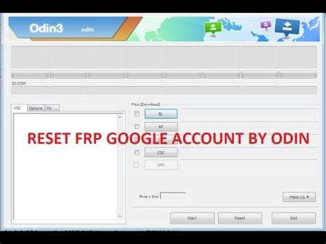 reset samsung via odin how to reset samsung frp google account by odin games