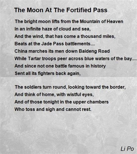 come home with me blue moon harbor books the moon at the fortified pass poem by li po poem
