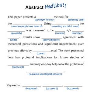 How To Write Abstract For Paper Presentation 187 How To Write A Conference Abstract Or How Not To Write