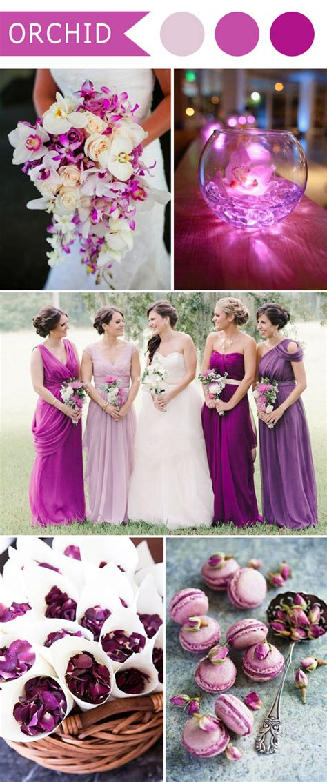 5 different shades purple wedding colors
