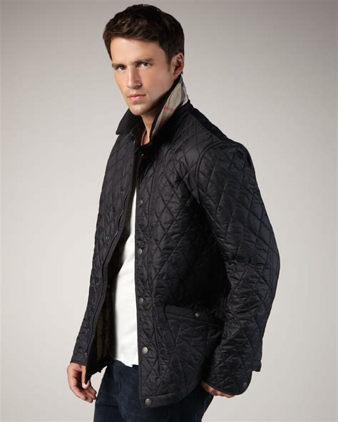 Lyst   Burberry Brit Classic Quilted Jacket in Black for Men