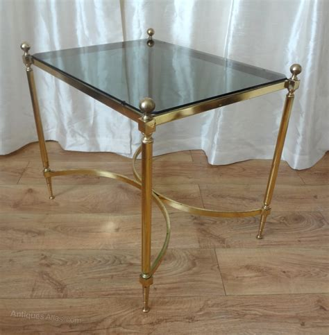 terrace side table glass antique brass antiques atlas brass and glass side table