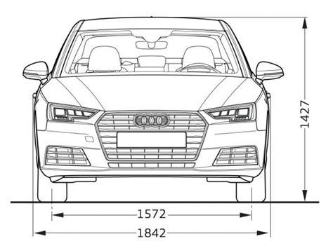Abmessung Audi A4 Avant by Audi A4 Limousine B9 Abmessungen Technische Daten