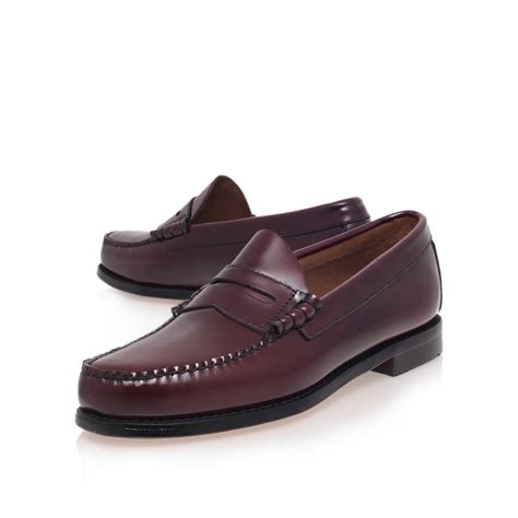 loafers bass g h bass co larson loafer in purple for