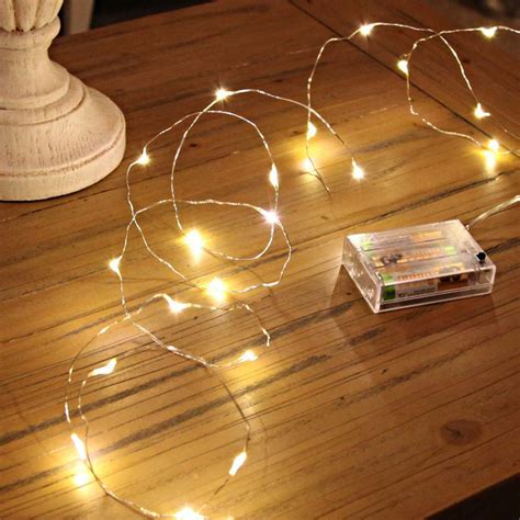 how are fairy lights wired 2m black micro wire battery lights 20 leds
