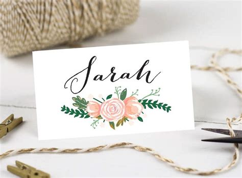 diy name cards the 25 best printable wedding place cards ideas on pinterest printed place cards printable