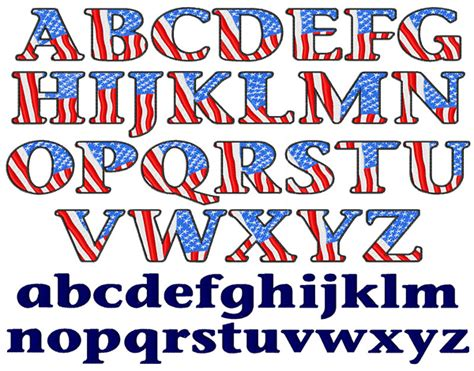 american flag font by embroidery patterns home format