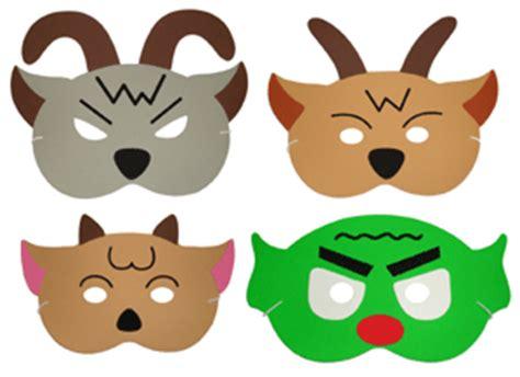 printable masks three billy goats gruff storytelling songs masks multicultural toys 4 u