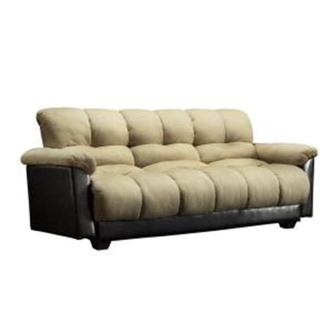 home depot futon homesullivan beige futon 404802mfr the home depot