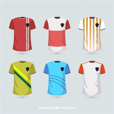 desain jersey cdr soccer uniform shirts vector free download