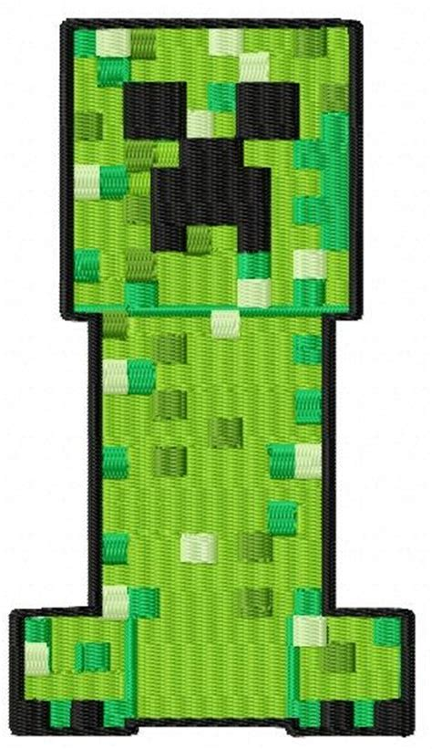 minecraft creeper embroidery design jef pes by